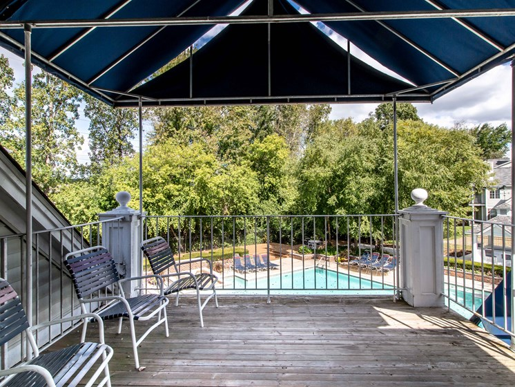 Clubhouse Balcony, The Heights in Madison Heights, MI