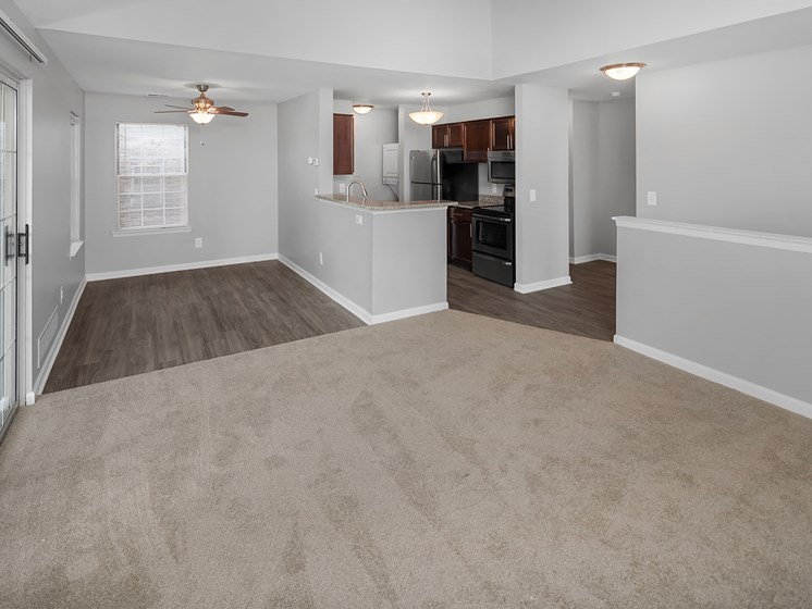 Open Living Room at The Heights Apartments in Madison Heights, MI