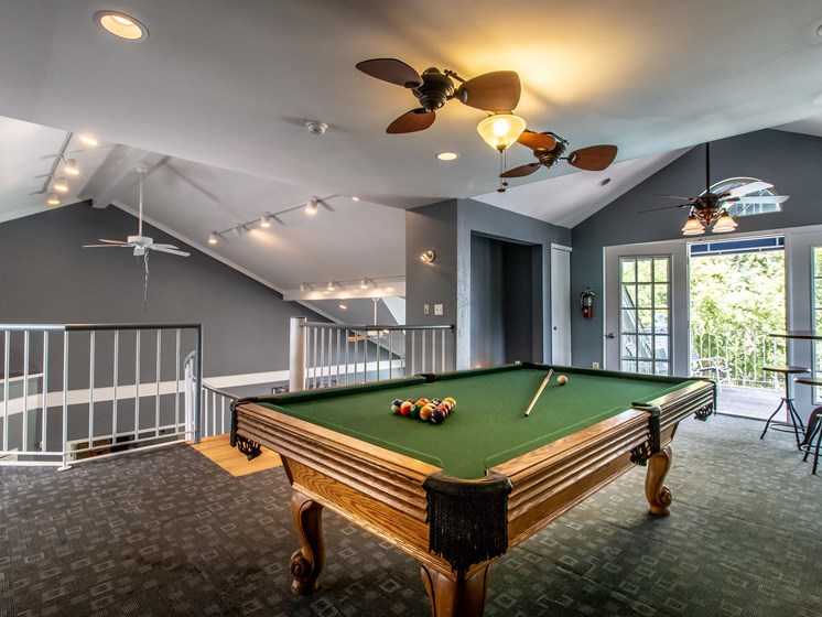 Clubhouse Billiards Lounge at The Heights Apartments in Madison Heights, MI