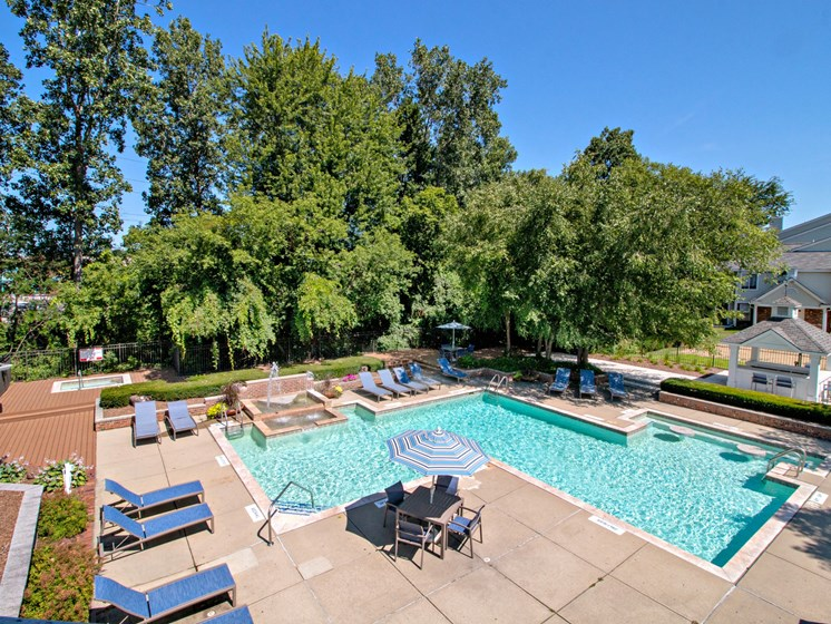 Impressive Sundeck and Pool Area; The Heights Apartments in Madison Heights, MI