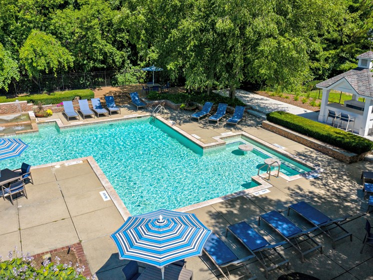 Refreshing resort style pool; The Heights Apartments in Madison Heights, MI