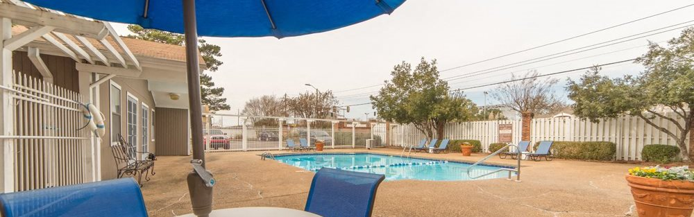 Pool area  at Somerset Place Apartments in Jackson Mississippi
