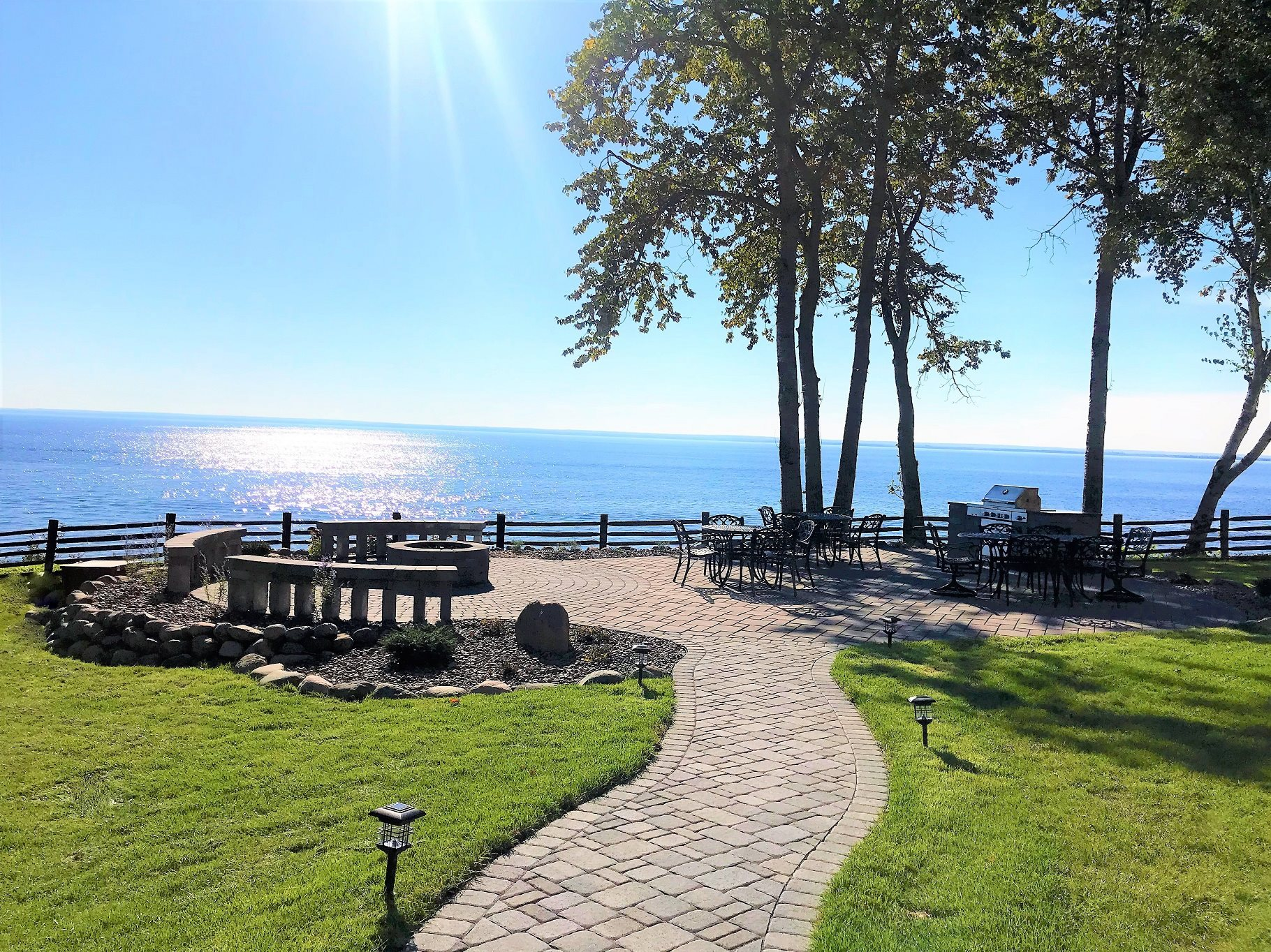 New Patio looking out over Lake Superior at Les Chateaux Apartments in Duluth Minnesota