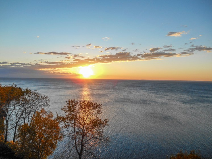 View of Lake Superior at Les Chateaux Apartments in Duluth Minnesota