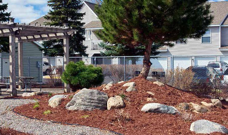 Beautiful Landscaping at Meadows of Coon Rapids in Coon Rapids, Minnesota