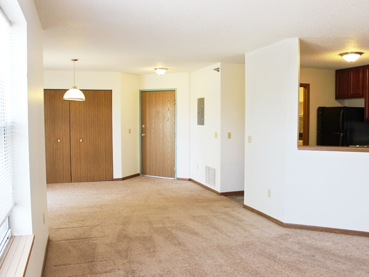 Living/dining room at Meadows of Coon Rapids in Coon Rapids, Minnesota