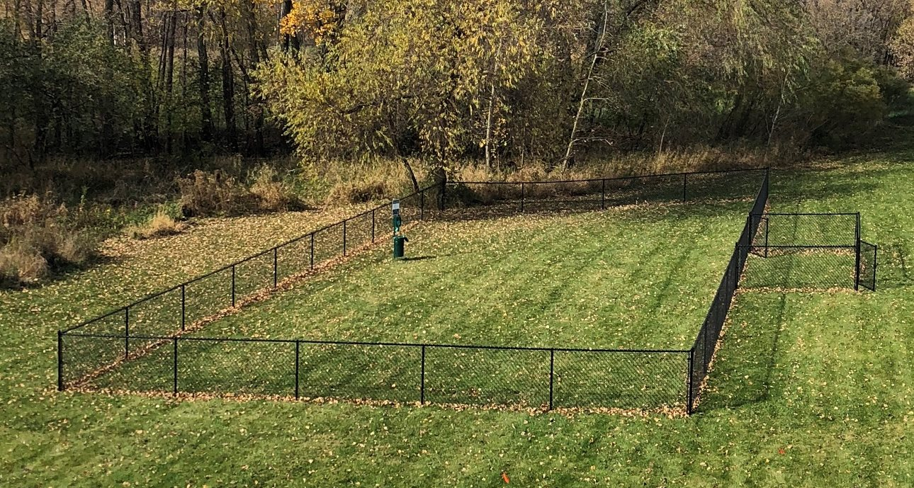 Leash free dog park at Meadows of Coon Rapids in Coon Rapids, Minnesota