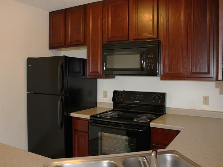 Kitchen at Meadows of Coon Rapids in Coon Rapids, Minnesota