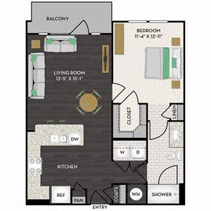 Floorplan at Midtown Houston by Windsor, Houston, TX