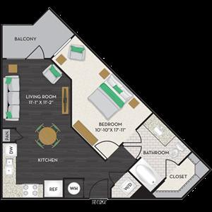 Floorplan at Midtown Houston by Windsor, Texas