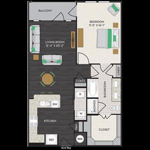 Floorplan at Midtown Houston by Windsor, Texas, 77002