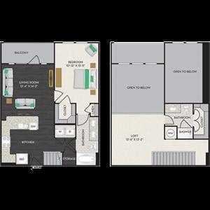 Floorplan at Midtown Houston by Windsor, Houston, 77002