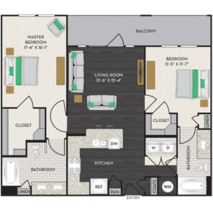 Floorplan at Midtown Houston by Windsor, Houston, Texas