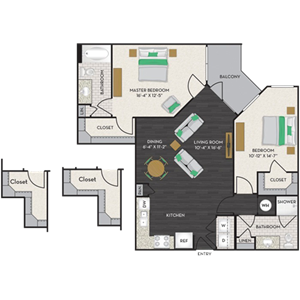 Floorplan at Midtown Houston by Windsor, Houston, TX 77002