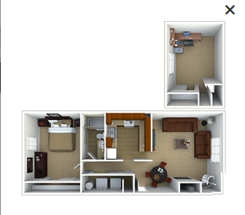 1 Bedroom Penthouse Floor Plan 2