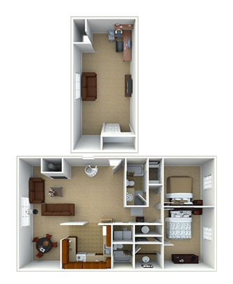 2 Bedroom Penthouse Floor Plan 6