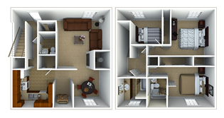 3 Bedroom Townhouse Floor Plan 7
