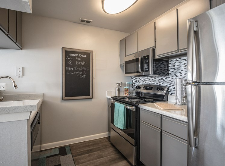 17 stainless steel renovated kitchen large sink wood floor orlando apt
