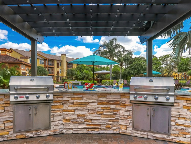 Outdoor space- gas grills