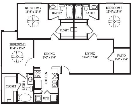 The Park Floor Plan 3
