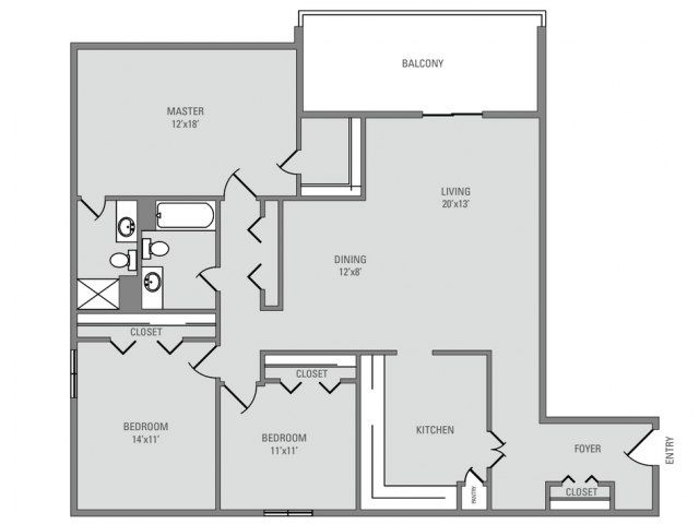3 Bed, 2 Bath, 1419 sq. ft. Stratford