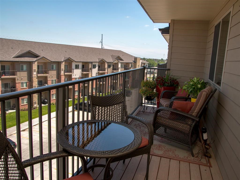 Balcony at The Flats at 84 in southeast Lincoln NE 68516