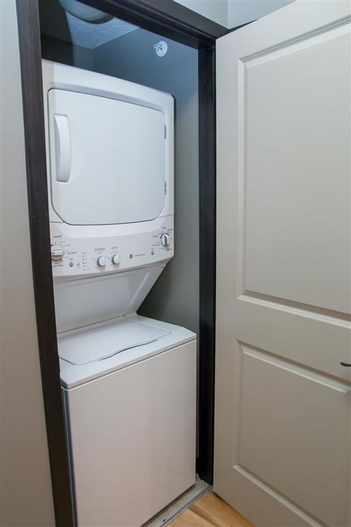 Washer and dryer at The Flats at 84 in southeast Lincoln NE 68516