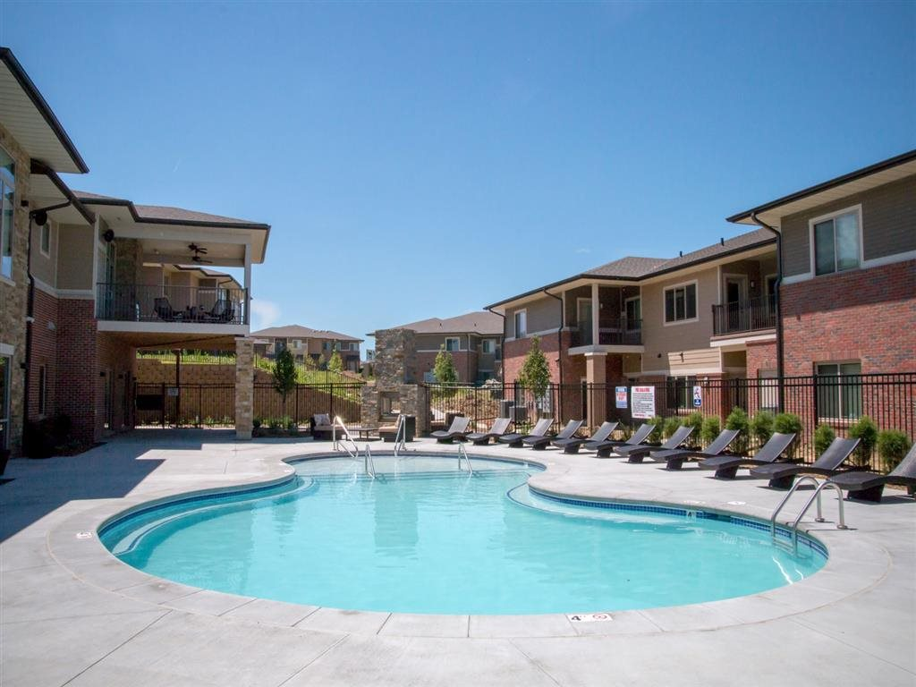 Resort-style swimming pool at Villas of Omaha at Butler Ridge