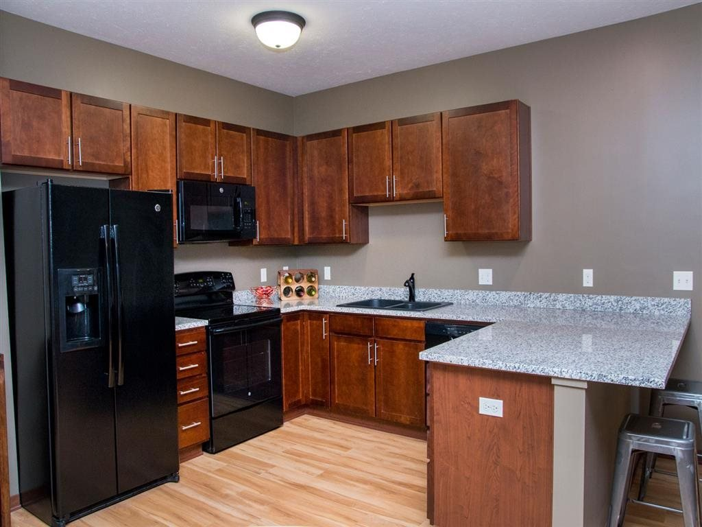 Spacious kitchen at Villas of Omaha at Butler Ridge in Omaha NE
