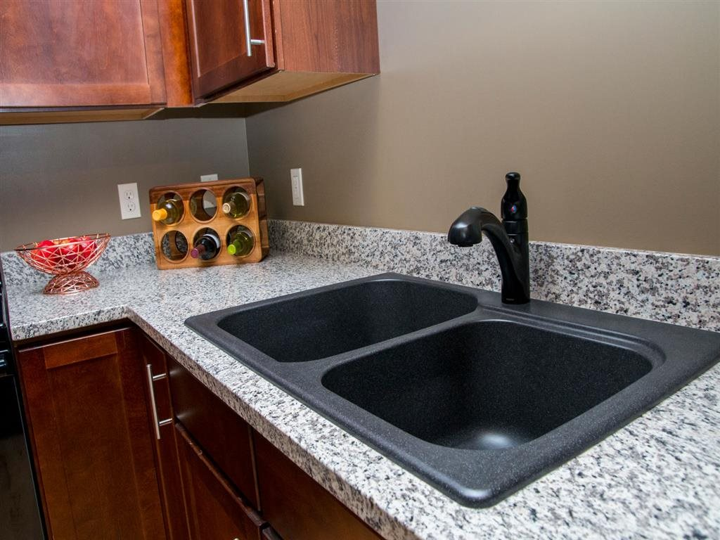 Dual tub sink at Villas of Omaha at Butler Ridge in Omaha NE
