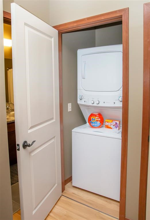 Washer and dryer included at Villas of Omaha at Butler Ridge in Omaha NE