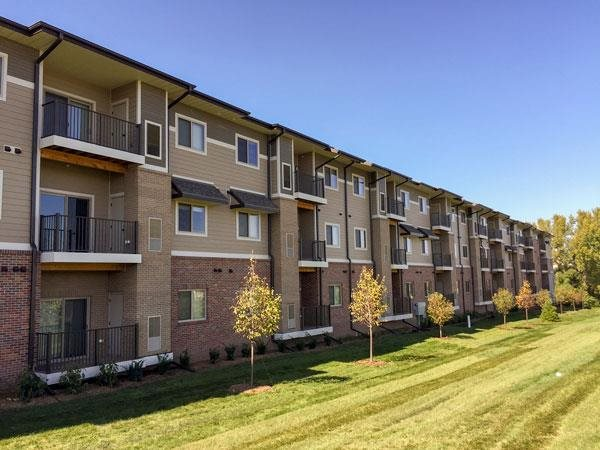 Condo-style apartments at Villas of Omaha at Butler Ridge in Omaha NE