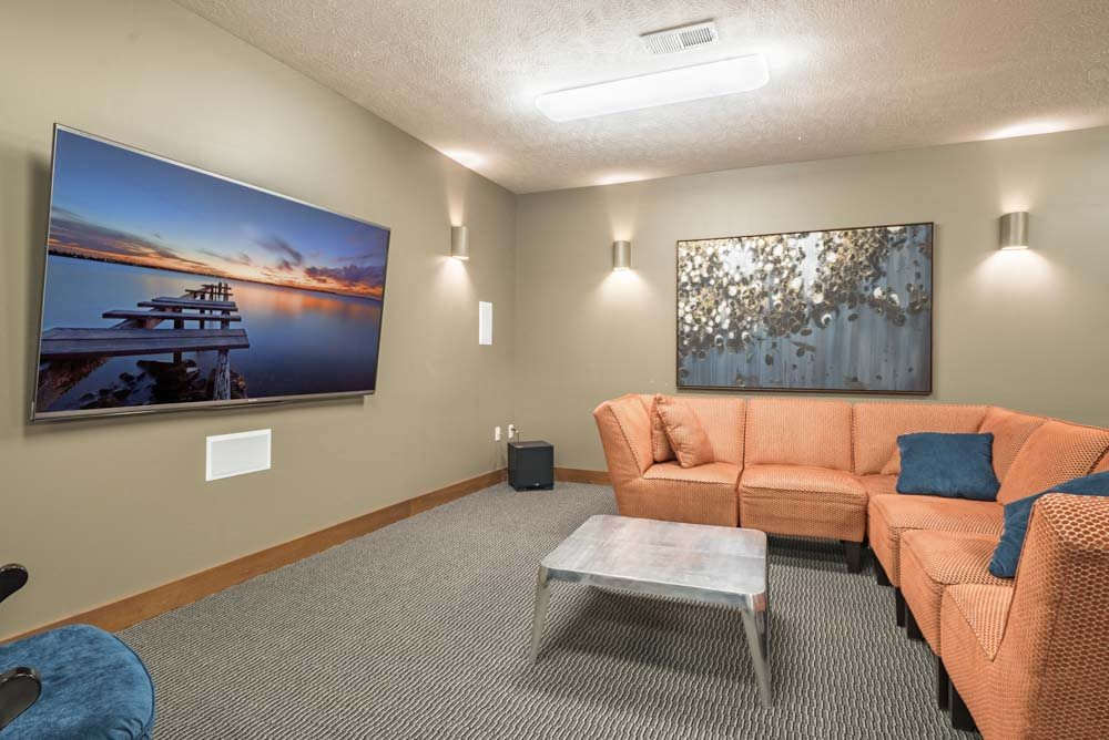 Theater Room and Storm Shelter - Villas of Omaha at Butler Ridge Omaha NE 68116