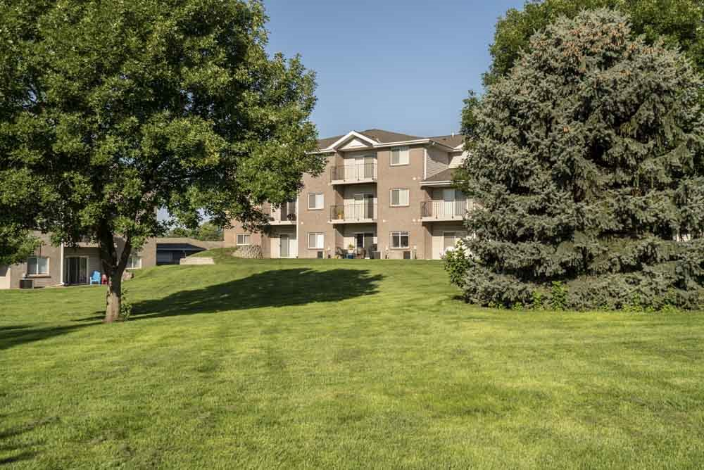 Greenspace next to Highland View Apartments in north Lincoln NE 68521