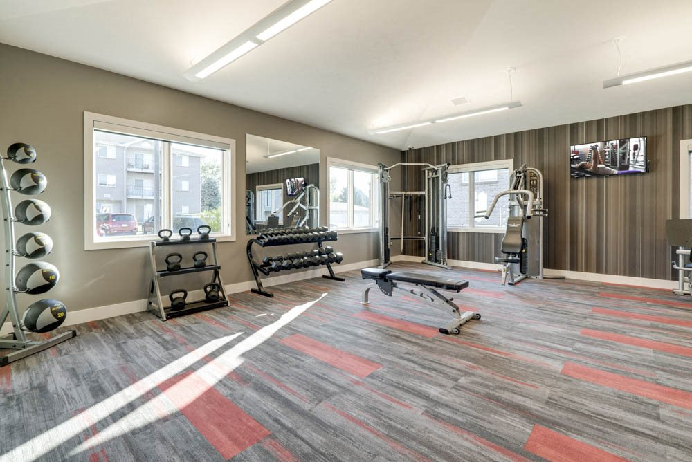 New fitness center at Highland View Apartments in north Lincoln NE 68521