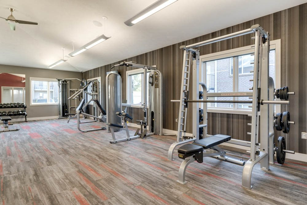 New gym at Highland View Apartments in north Lincoln NE 68521
