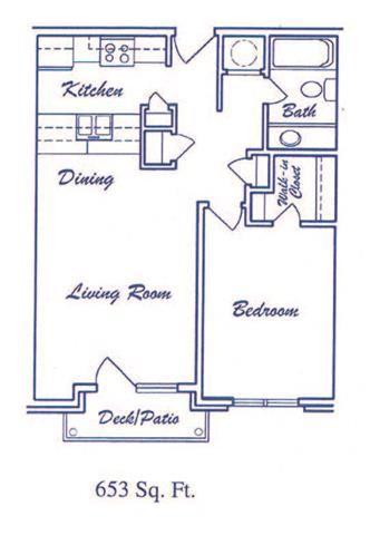 Horizon one bedroom one bathroom floorplan at Skyline View Apartments