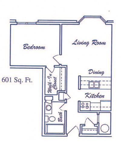 Zephyr one bedroom one bathroom floorplan at Skyline View Apartments
