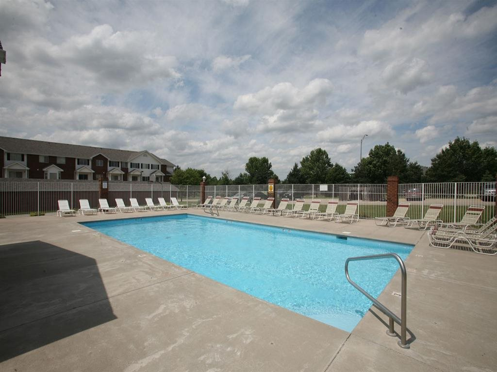 pool with sun deck at Pine Lake Heights Apartments in Lincoln Nebraska