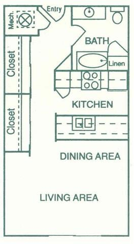 Floor Plans Of Pine Lake Heights Apartments In Lincoln Ne