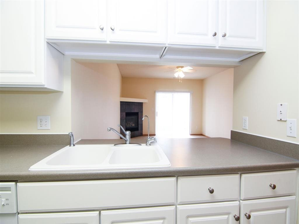 Interiors-Galley Style Kitchen at Pinebrook Apartments in Lincoln NE