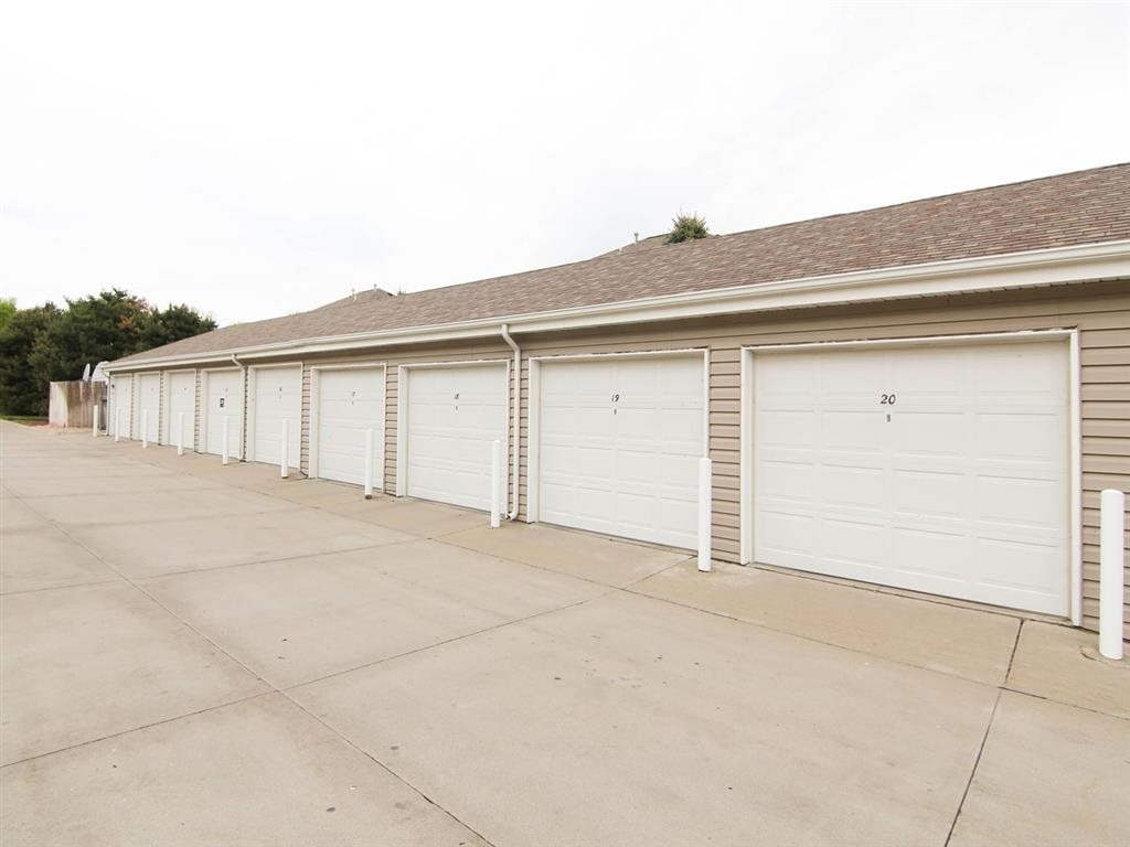 Exteriors-Detached garages at Pinebrook Apartments in Lincoln NE