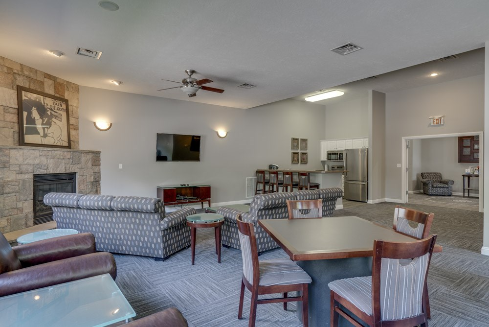 Clubhouse at Pinebrook Apartments!
