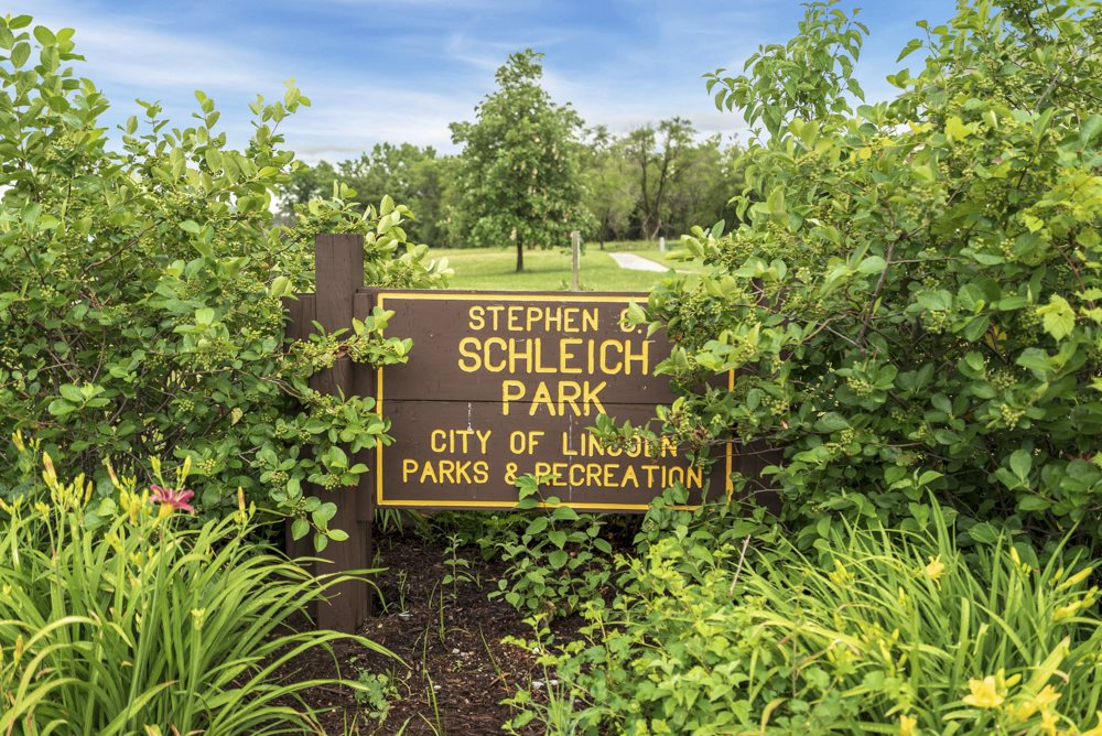 Schleich Park recreation park in Lincoln, NE located near Cascade Pines