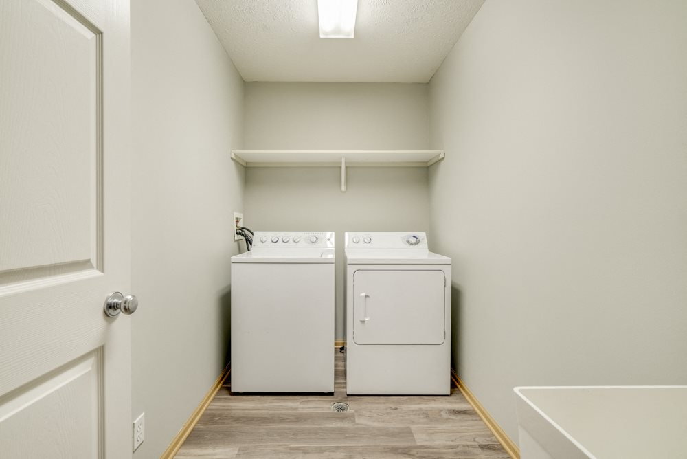 Washer and dryer available at Cascade Pines duplex and townhomes