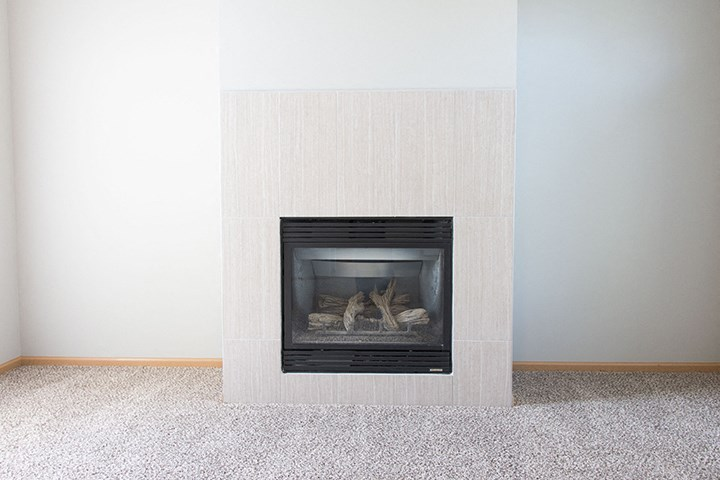 Interiors- Gas fire place at Cascade Pines Town-homes Lincoln Nebraska