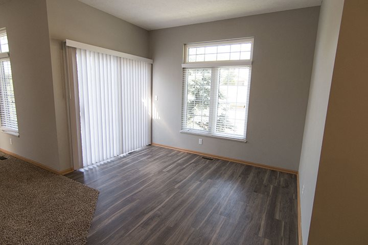 Interiors- Dining room right off of kitchen at Cascade Pines Town-homes Lincoln Nebraska