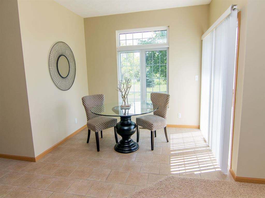 Interiors-Dining Room Area at Cascade Pines Duplex Homes in Lincoln NE