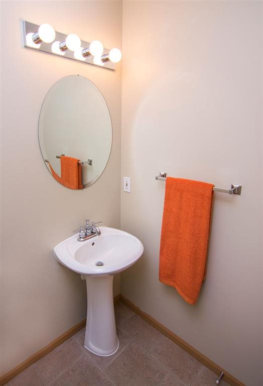 Interiors-Guest Bathroom at Cascade Pines Duplex Homes in Lincoln NE