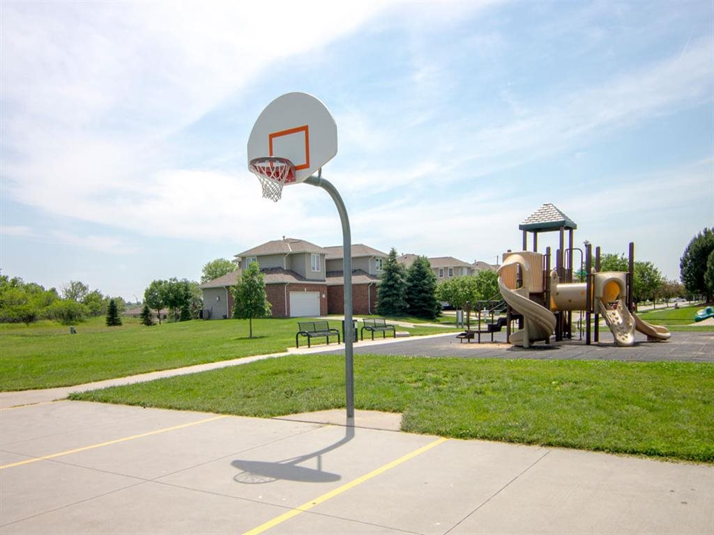 Exteriors-Cascade Pines Duplex Homes Basketball Court in Lincoln NE